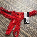 Piros randibugyi teljesen nyitott masnis OS INEZ 3218