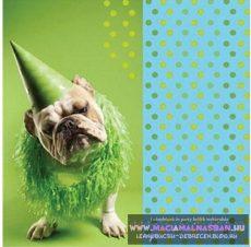 Bulldog születésnapot szalvéta