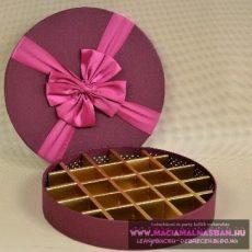 Csokidoboz kör 25*4 cm 21 részes Masnis