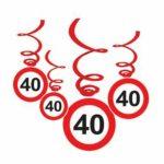 Spirálos függődekor 40. születésnapra 6db/cs