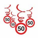 Spirálos függődekor 50. születésnapra 6db/cs