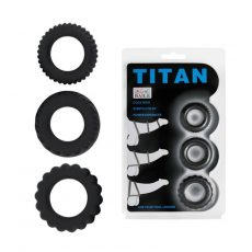 Titan 3db-os erekciónövelő péniszgyűrű szett
