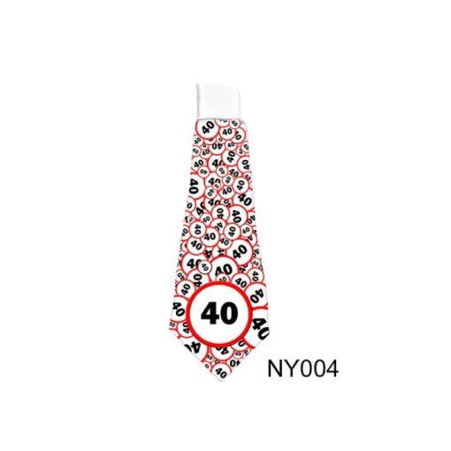 Nyakkendő 40 évszámos születésnapra NY004