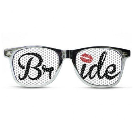 Napszemüveg Lánybúcsú fehér BRIDE