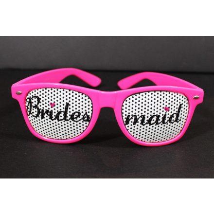 Napszemüveg Lánybúcsú pink BRIDESMAID