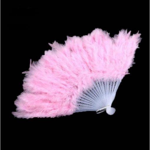 Tollas legyező Rózsaszín 25cm