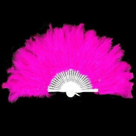 Tollas legyező Pink 25cm