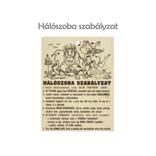 Fatábla Hálószoba szabályzat