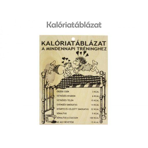 Fatábla Vicces Kalória táblázat