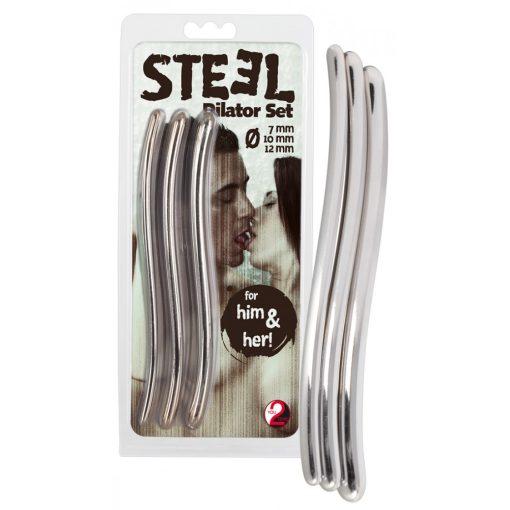 STEEL Dilator acél húgycsőtágító dildó szett (3db)
