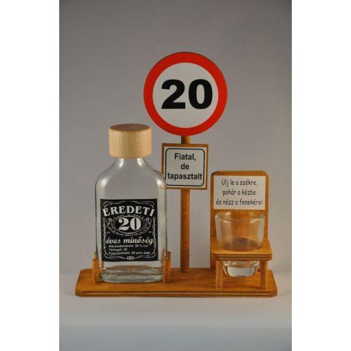 Buszmegálló 20. Születésnapra pálinkás szett 0,1l