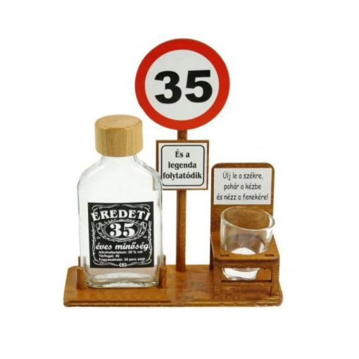 Buszmegálló 35. Születésnapra pálinkás szett 0,1l