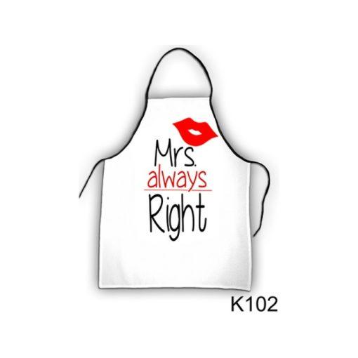 Kötény - Mrs Always Right