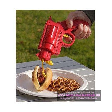 Szósz adagoló pisztoly 2db Ketchup&Mustár