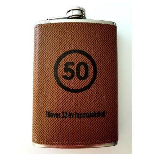 Fém flaska LAPOSÜVEG 50 év