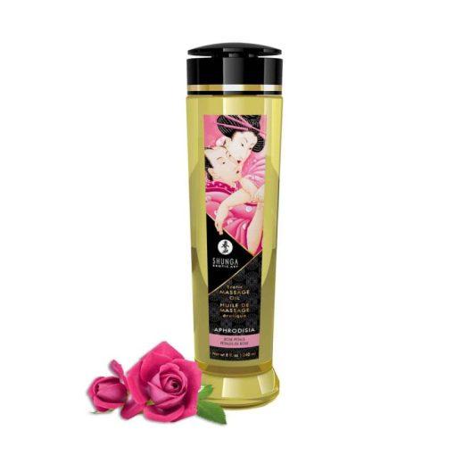 Shunga erotikus masszázs olaj - rózsa  250ml