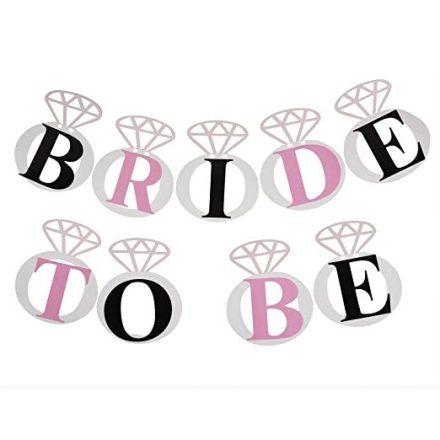 Zászlófüzér gyémánt Bride to Be