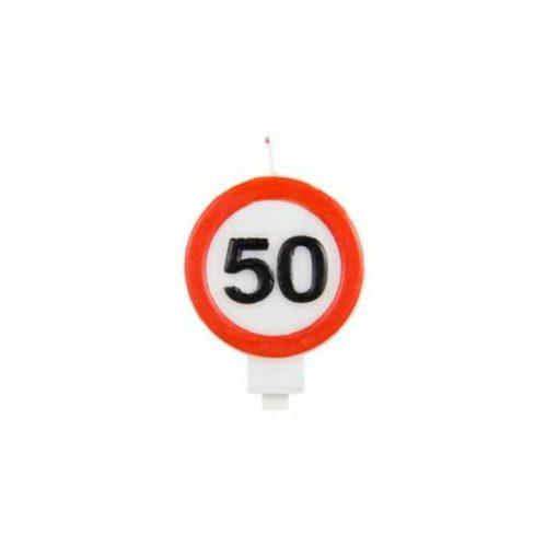 Gyertya 50. születésnap Sebességkorlátozó